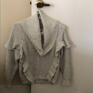 NWT Express cowl neck ruffle sweater